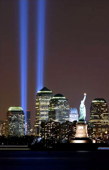 "Twin Towers ""Tribute in Light"""