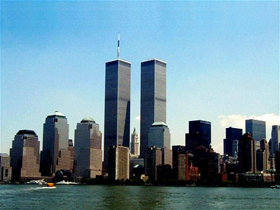 Before the attack: The Twin Towers dominate the magnificent New York skyline