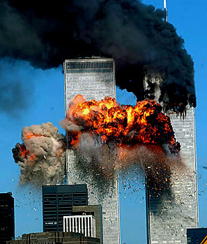 The work of the devil: The towers are struck by the evil cowards